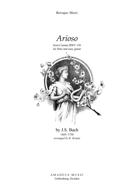 Arioso (A Major) for flute and easy guitar