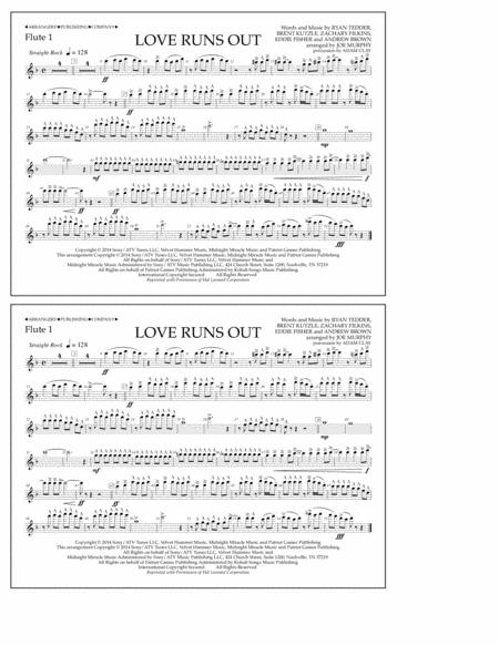 Love Runs Out - Flute 1