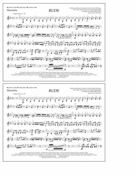 Rude - Marimba