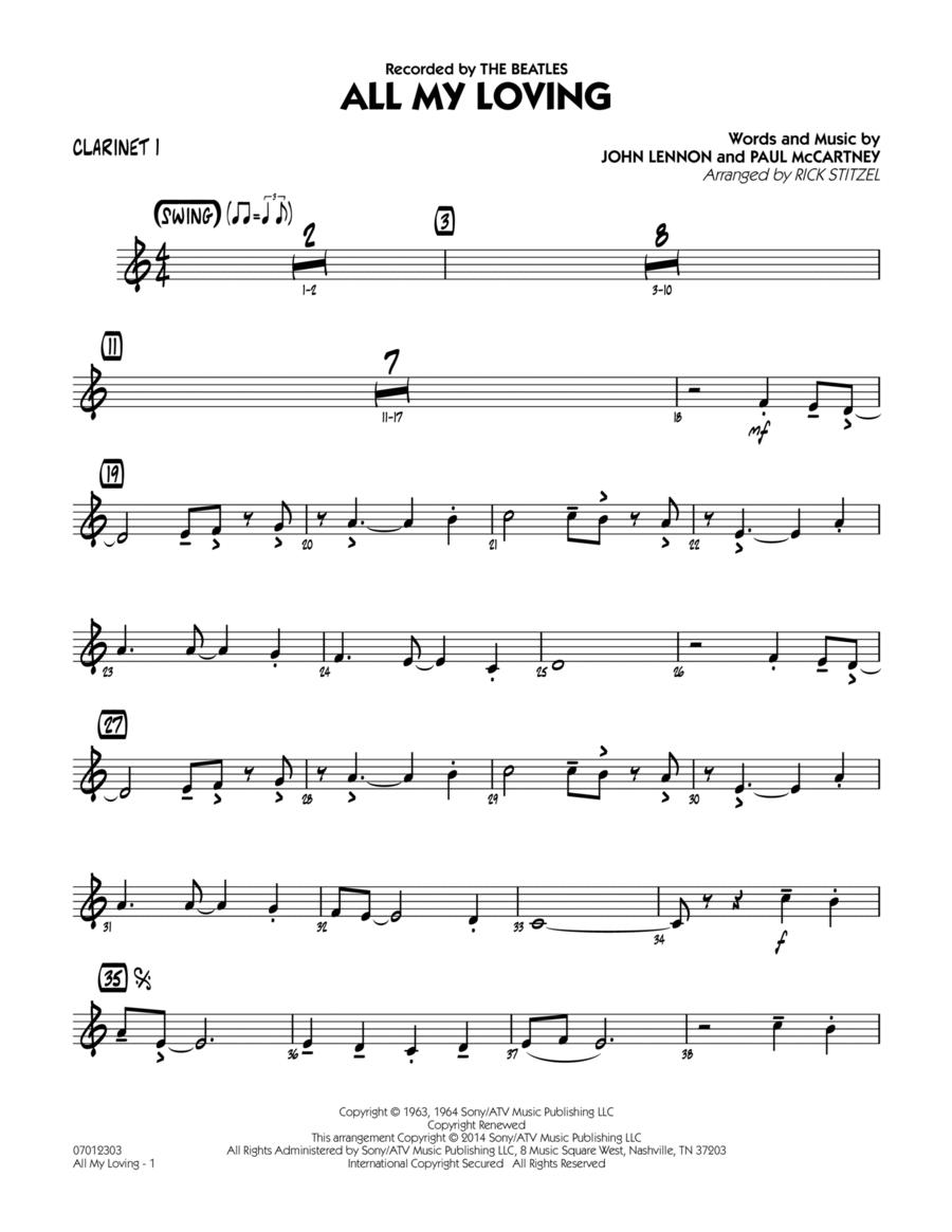 All My Loving - Bb Clarinet 1