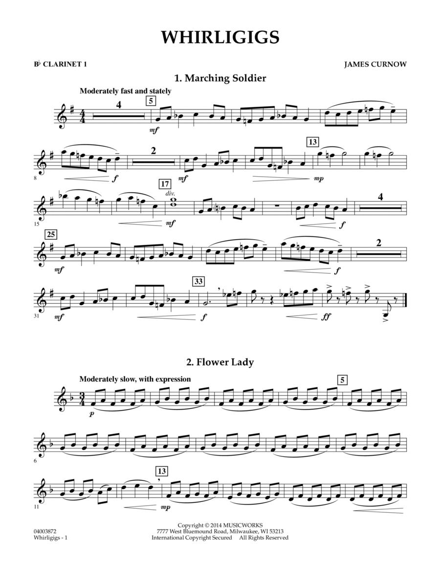 Whirligigs - Bb Clarinet 1