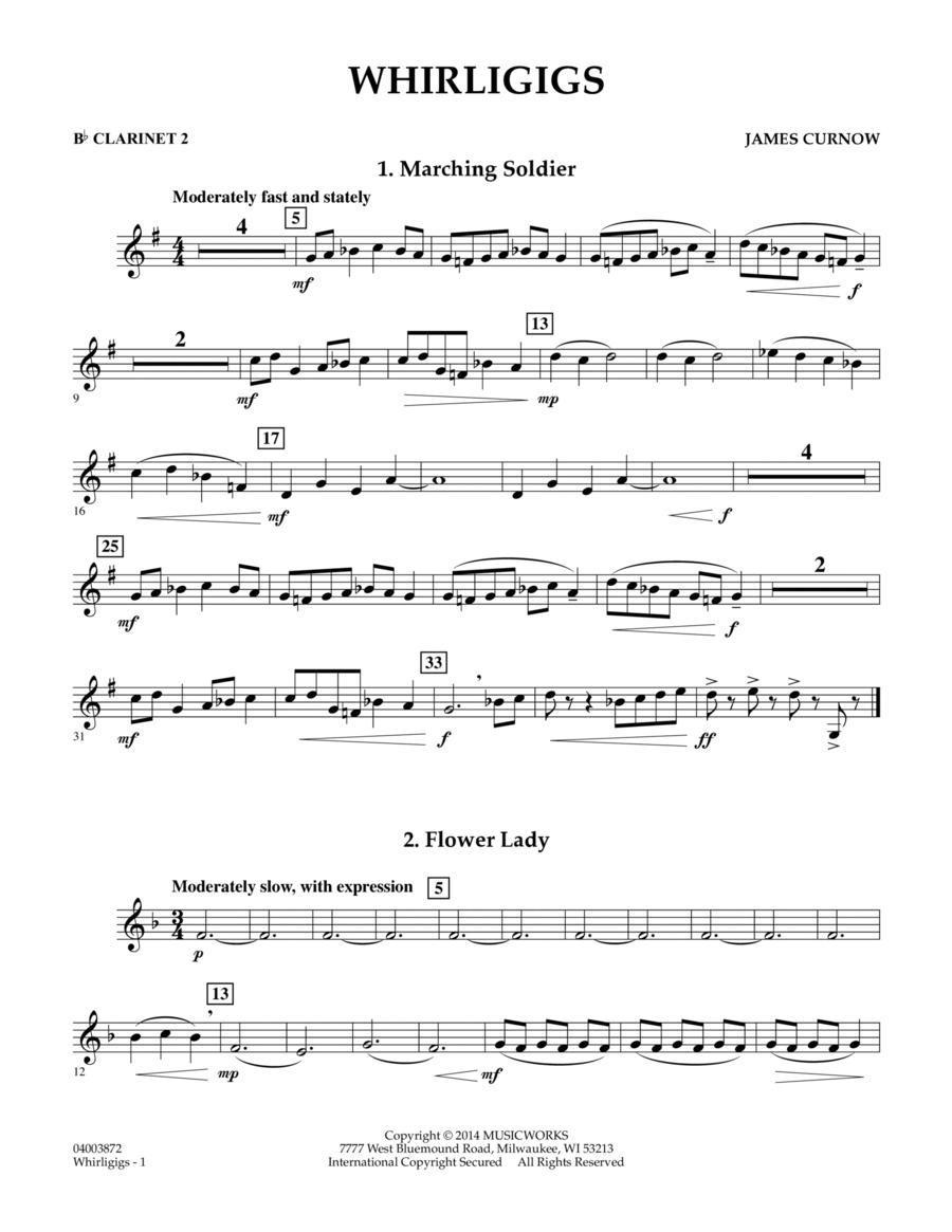 Whirligigs - Bb Clarinet 2