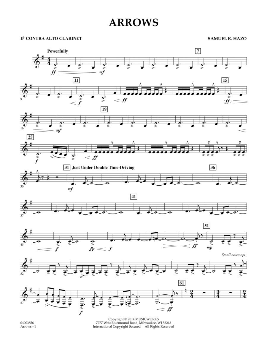 Arrows - Eb Contra Alto Clarinet