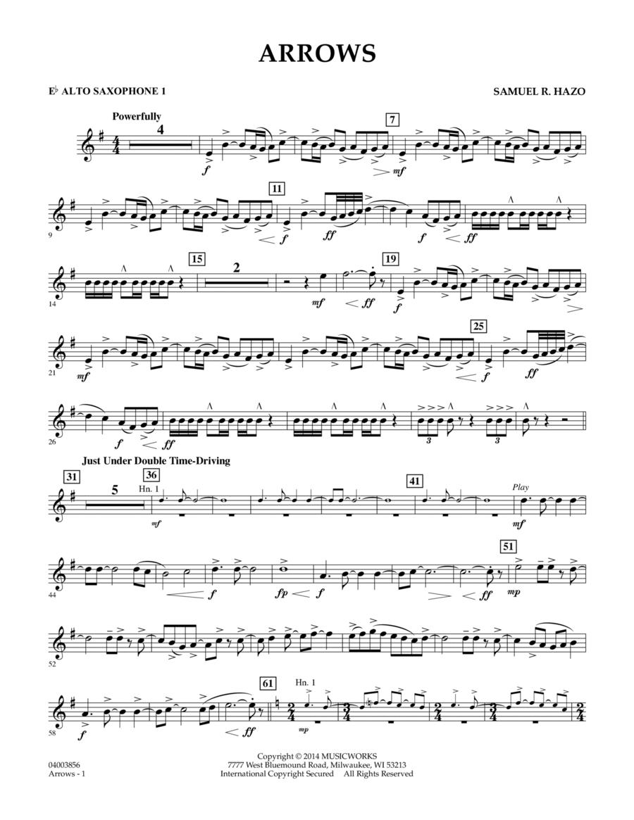 Arrows - Eb Alto Saxophone 1