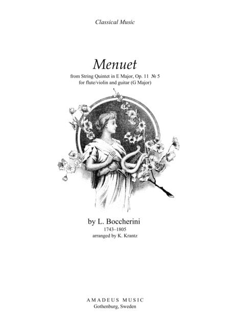 Menuet (G Major) for flute and guitar