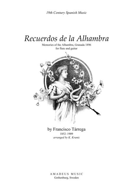 Recuerdos de la Alhambra (A Minor) for flute guitar