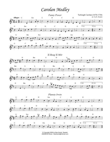 Carolan Medley for flute or violin