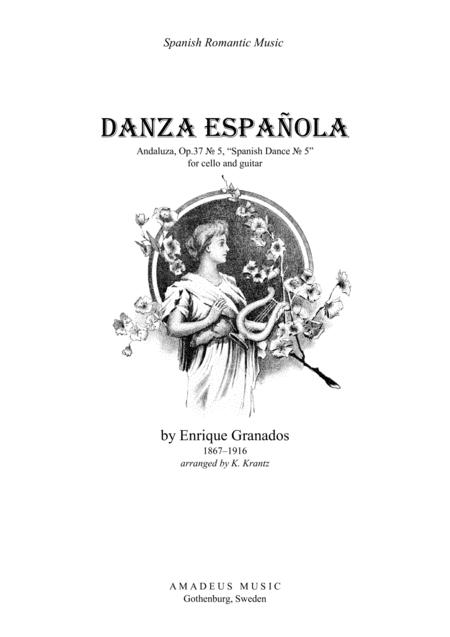 Spanish Dance No. 5 (E Minor) for cello and guitar