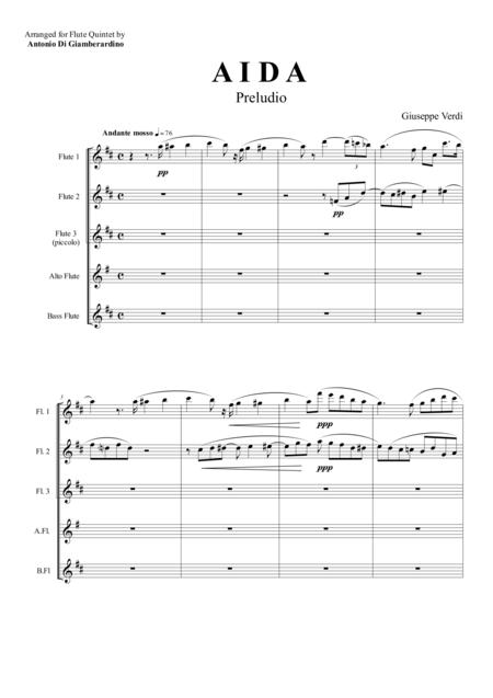 AIDA - PRELUDIO - Flute Quintet