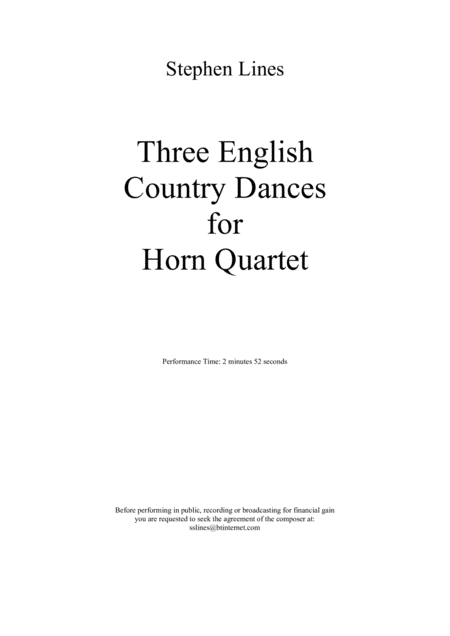 Three English Country Dances