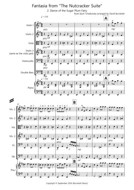 Dance of the Sugar Plum Fairy (Fantasia from Nutcracker Suite) for String Orchestra