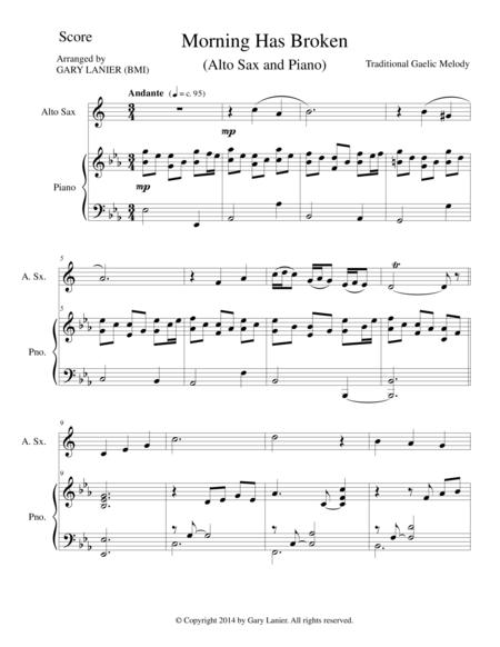 MORNING HAS BROKEN (Alto Sax/Piano and Sax Part)