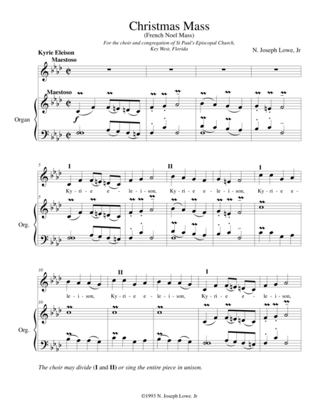 French Noel Mass
