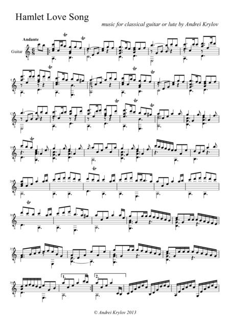 score , sheet music of