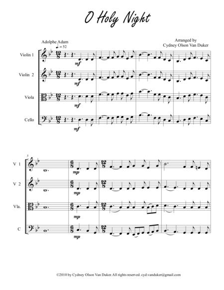 O Holy Night 2 Vn 1Vla 1 Cello