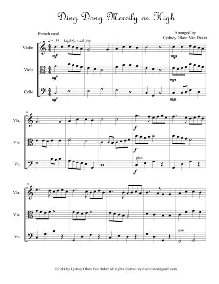 Ding Dong Merrily on High  Vln Vla Cello