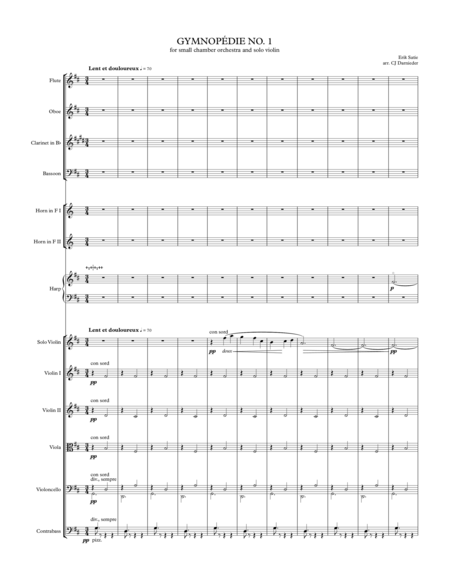 Gymnopedie No. 1 (for small chamber orchestra and solo violin)