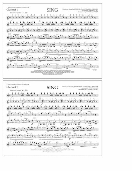 Sing - Clarinet 1
