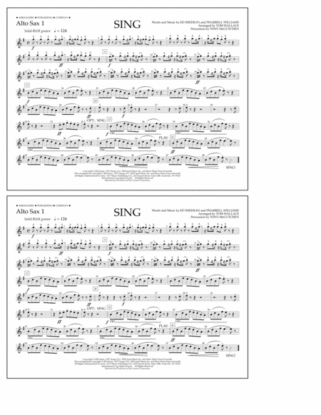 Sing - Alto Sax 1