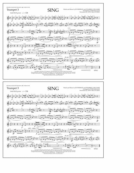 Sing - Trumpet 3
