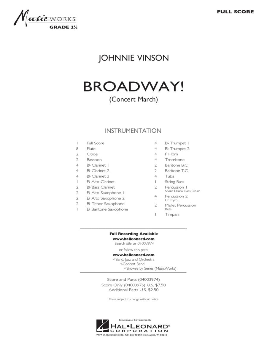 Broadway! - Full Score