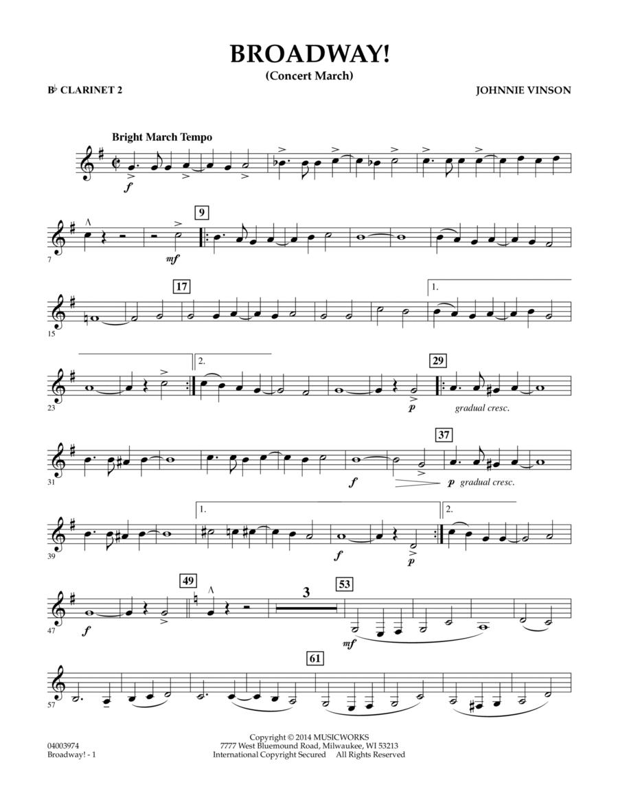 Broadway! - Bb Clarinet 2