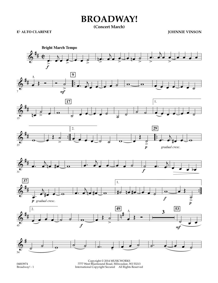 Broadway! - Eb Alto Clarinet