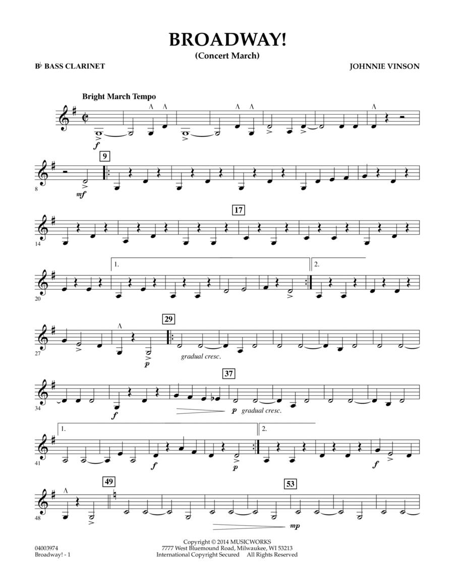 Broadway! - Bb Bass Clarinet