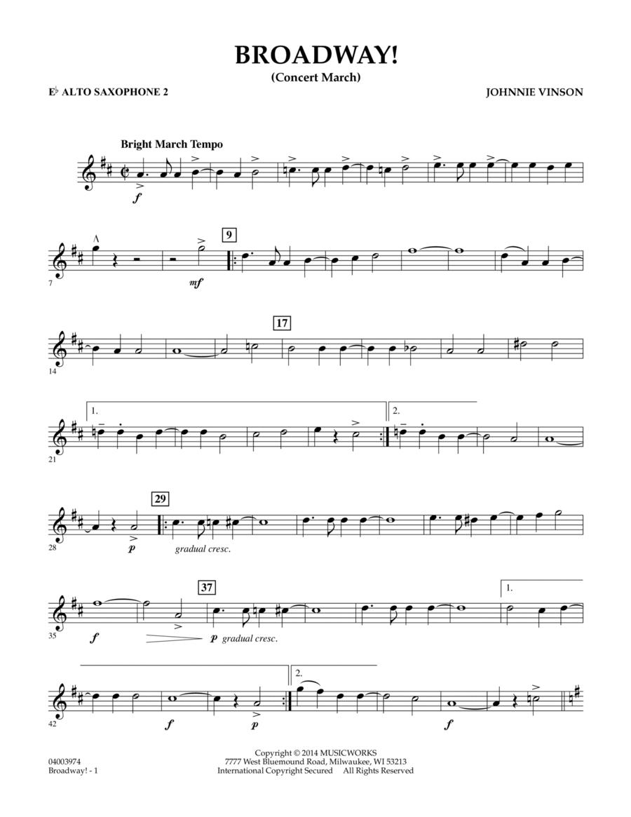 Broadway! - Eb Alto Saxophone 2