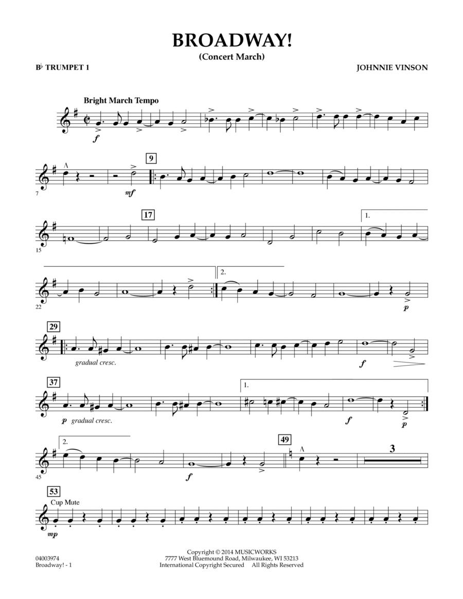 Broadway! - Bb Trumpet 1
