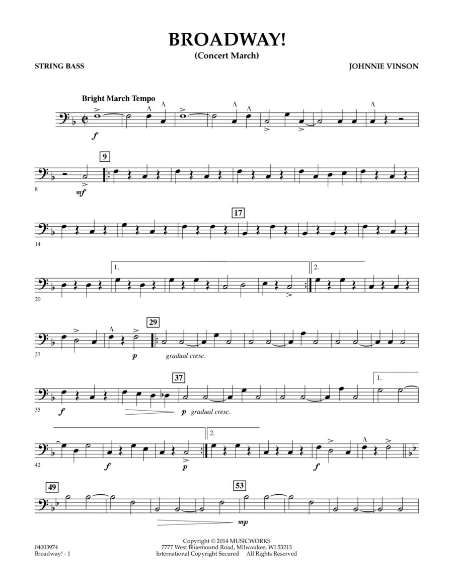 Broadway! - String Bass