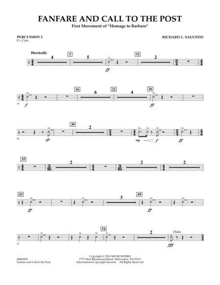 Fanfare and Call to the Post - Percussion 2