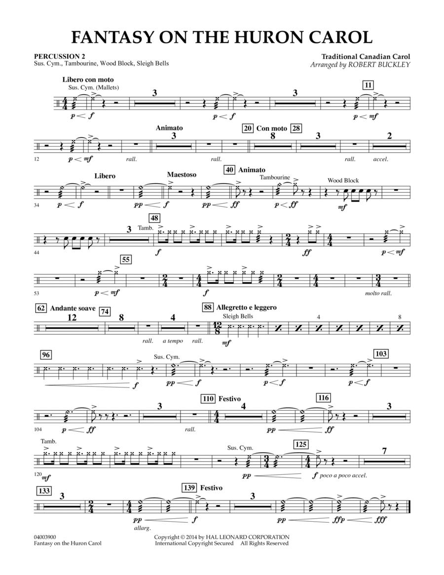 Fantasy on the Huron Carol - Percussion 2