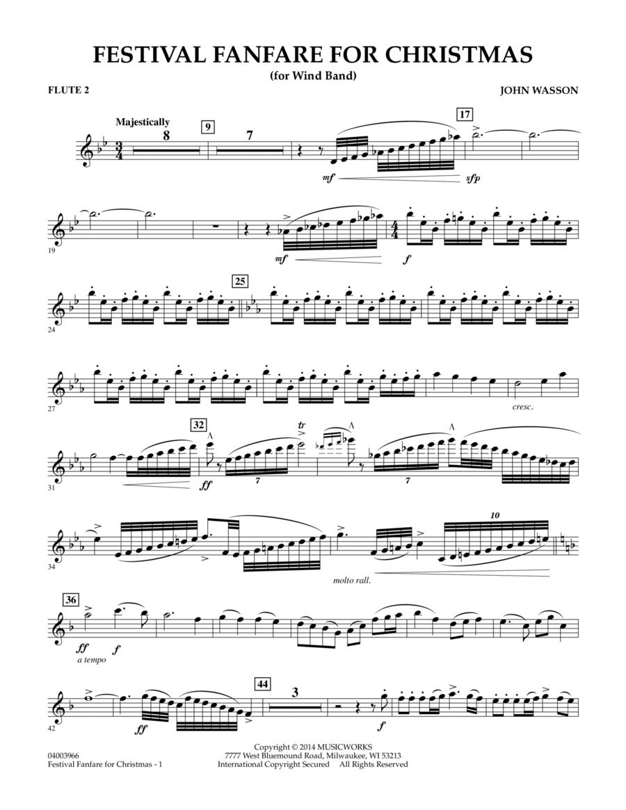 Festival Fanfare for Christmas (for Wind Band) - Flute 2