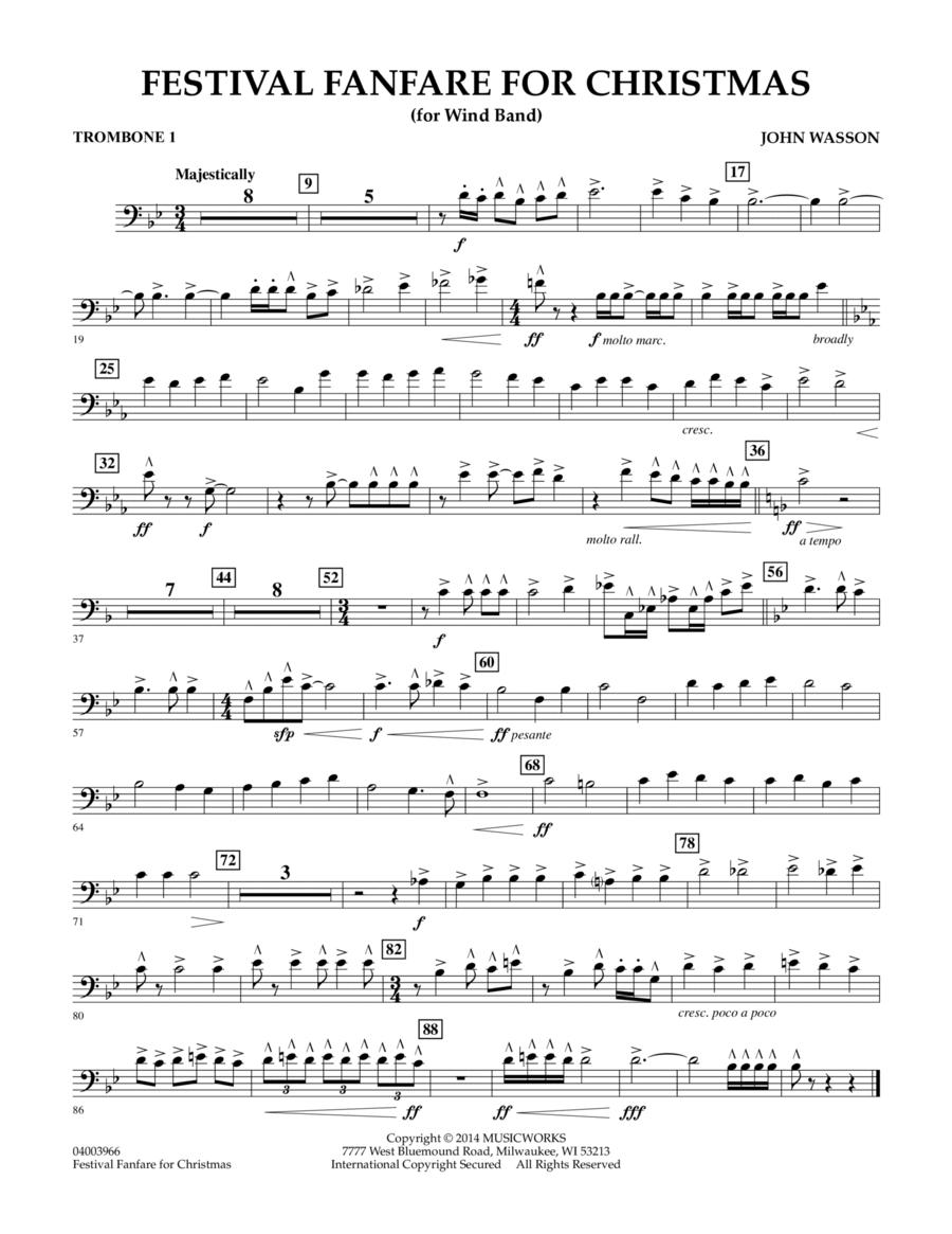 Festival Fanfare for Christmas (for Wind Band) - Trombone 1