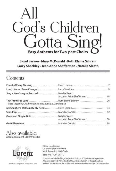 All God's Children Gotta Sing!