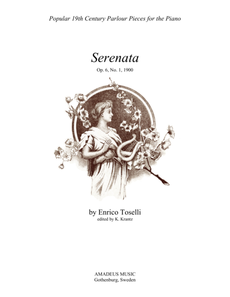 Serenata rimpianto Op. 6 No. 1 for easy piano solo