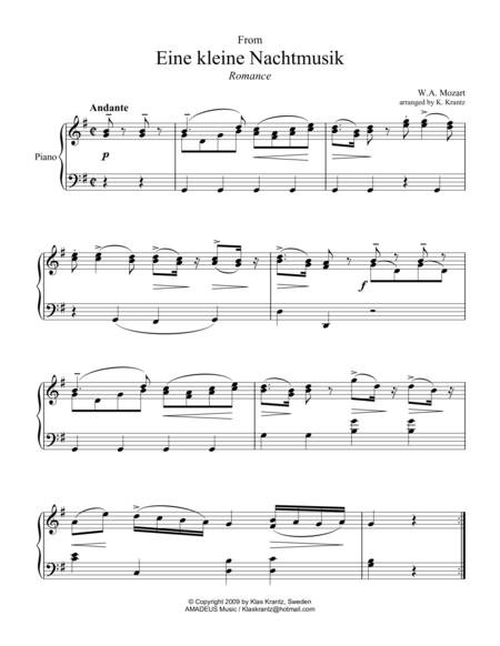 Romance for easy piano solo