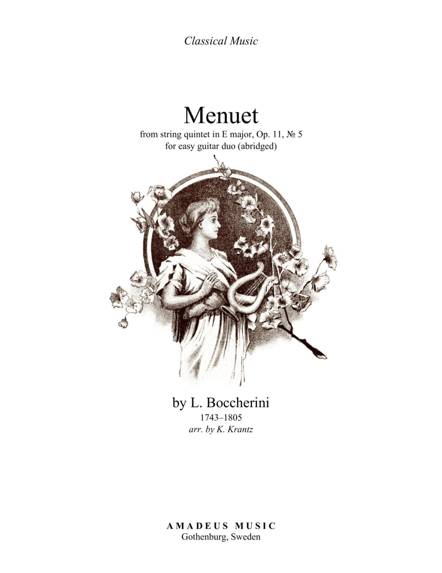 Menuet for easy guitar duo (+TAB)
