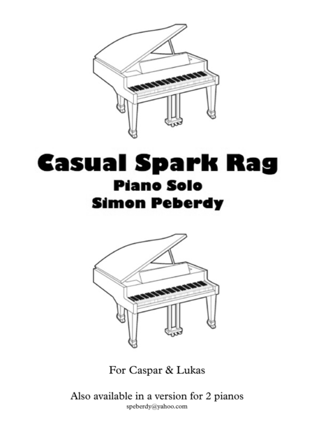 Casual Park Rag for piano solo