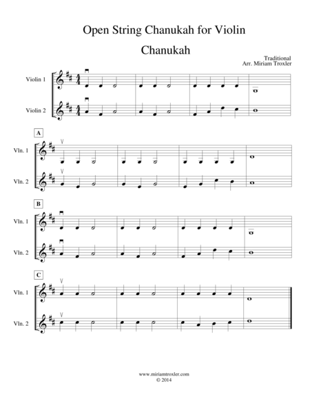 Open String Chanukah for Violin