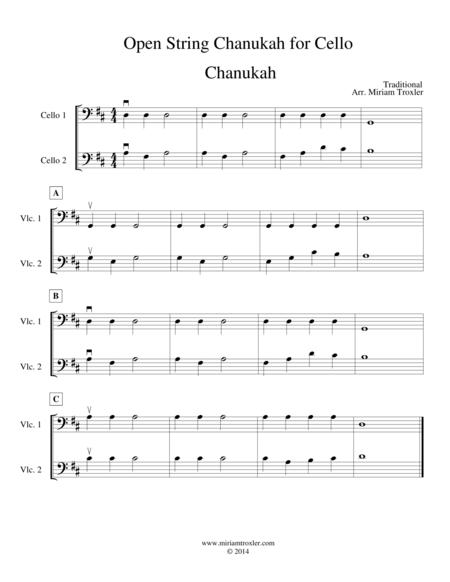 Open String Chanukah for Cello