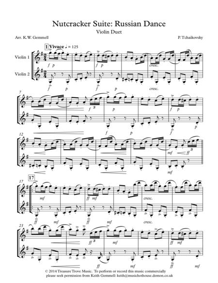 Nutcracker Suite: Russian Dance - Violin Duet