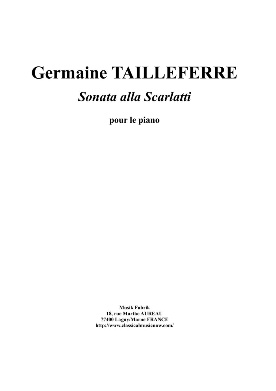 Germaine Tailleferre - Sonata Alla Scarlatti for piano