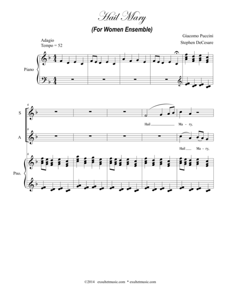 Hail Mary (For Women Ensemble)