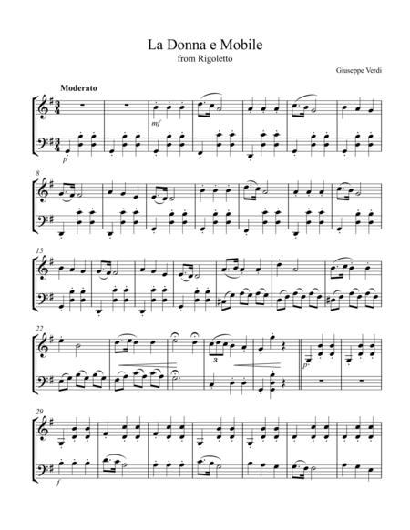 La Donna e Mobile, arr. for vln. & cello duet
