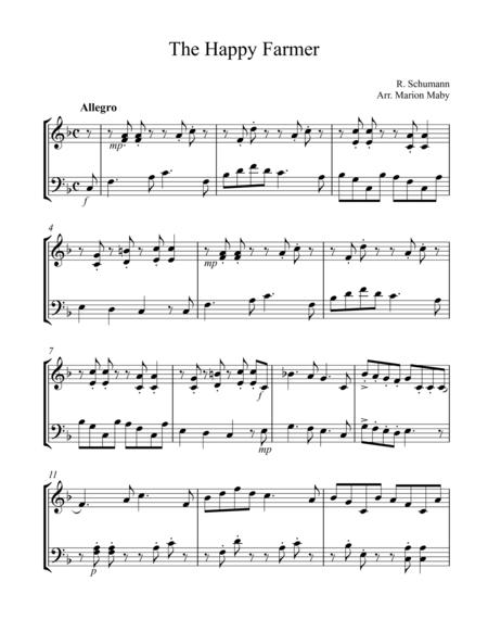 The Happy Farmer, arr. for vln. & cello duet