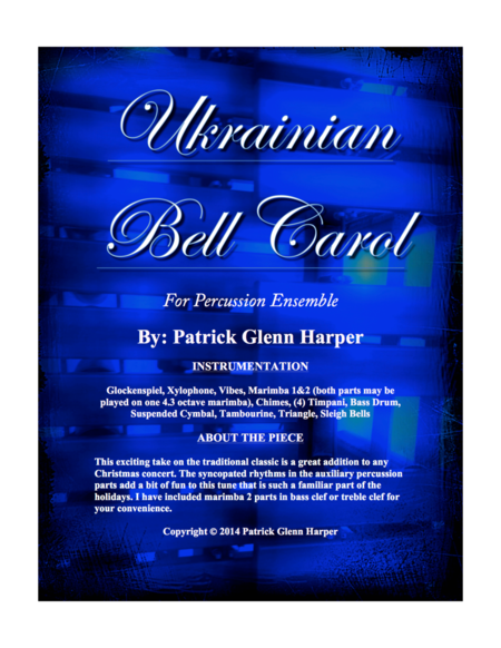 Ukrainian Bell Carol - for Percussion Ensemble