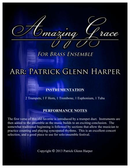 Amazing Grace - For Brass Ensemble
