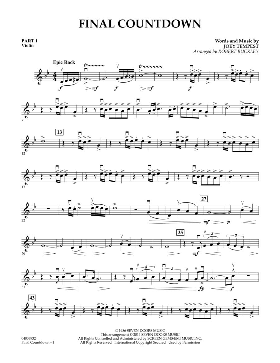 Final Countdown - Pt.1 - Violin